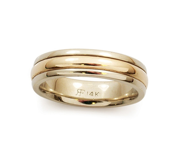 Two-tone 14k Band