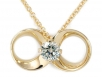 14k Yellow Gold Round Brilliant Diamond Pendant