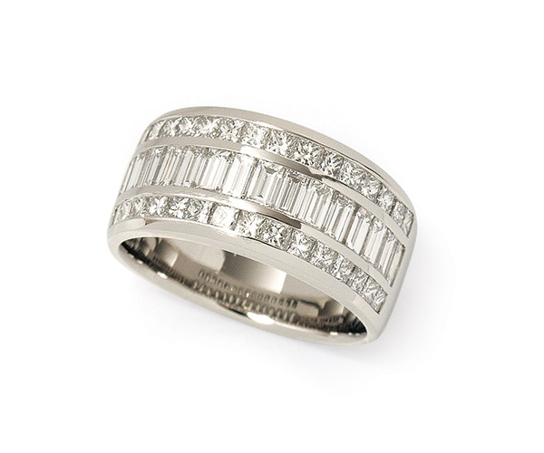 Princess Cut and Baguette Eternity Band