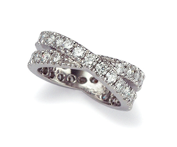 Round Brilliant Prong-set Eternity Band