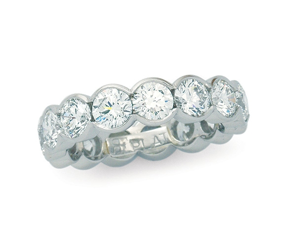 Round Brilliant Partial Bezel Eternity Band