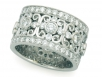 Intricately Designed Round Brilliant Eternity Band
