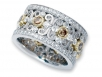120 Round Brilliants in White and Cognac Intricately Set in Two-tone Eternity Band