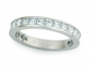 Channel-set Princess Cut Eternity Band