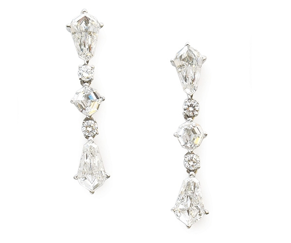 Platinum Antique Cut Diamond Earrings
