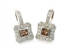 Princess Cut Cognac Diamonds and Round Brilliant Diamonds