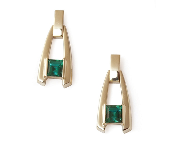 Blue-Green Tourmaline 14k Earrings