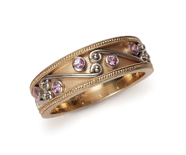 Pink Sapphires Set in 18k Yellow