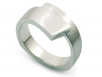Men's Band with Diamonds Set in Brushed Finish Platinum