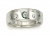 Men's Band with Diamonds Bezel-set in Platinum